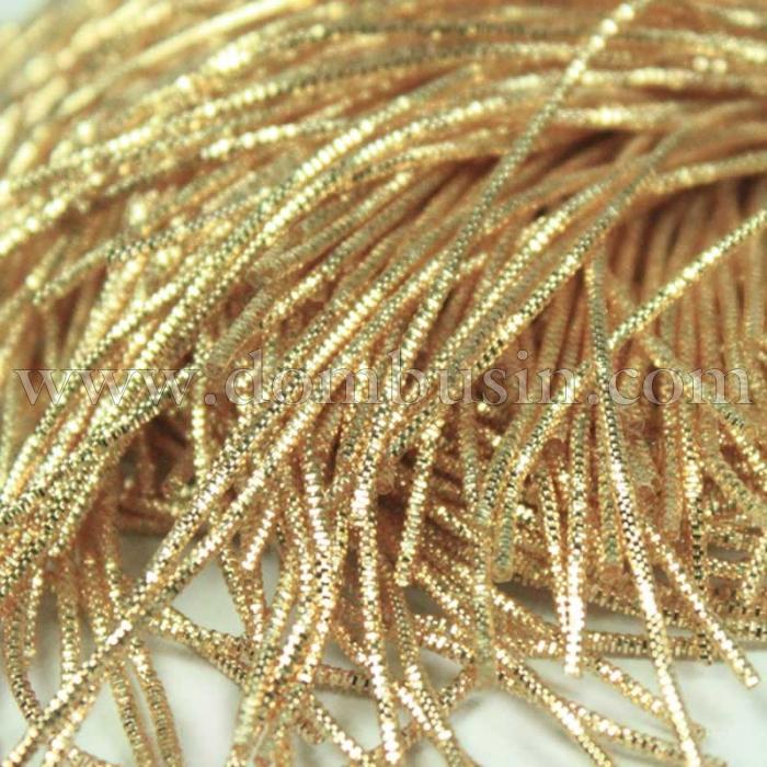 Канитель Трунцал , Цвет: Темное Золото, Отрезки не Менее 8см, Диаметр 2мм, около 3.5м/10г, (УТ100016738)