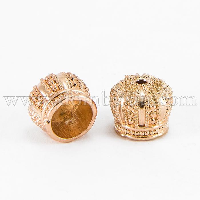 Конус для Бусин, Латунь, Цвет: Розовое Золото, Размер: 12х10мм, Отверстие 2мм, (УТ100017223)
