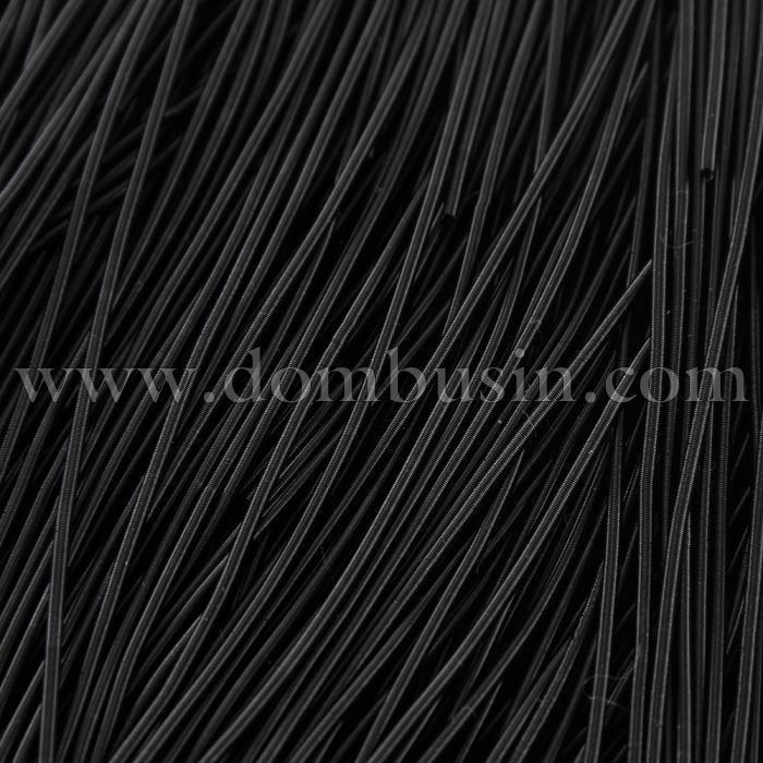 Канитель Мягкая, Матовая 1мм, Цвет: Черный, отрезки не менее 8см, около 400см/10г, (УТ100017282)