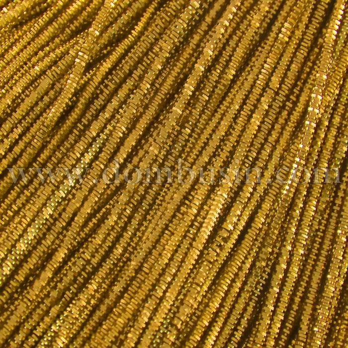 Канитель Трунцал 4 грани, Цвет: Желтое Золото, Отрезки не Менее 20см, Диаметр 0.7мм, около 580см/10г, (УТ100018380)