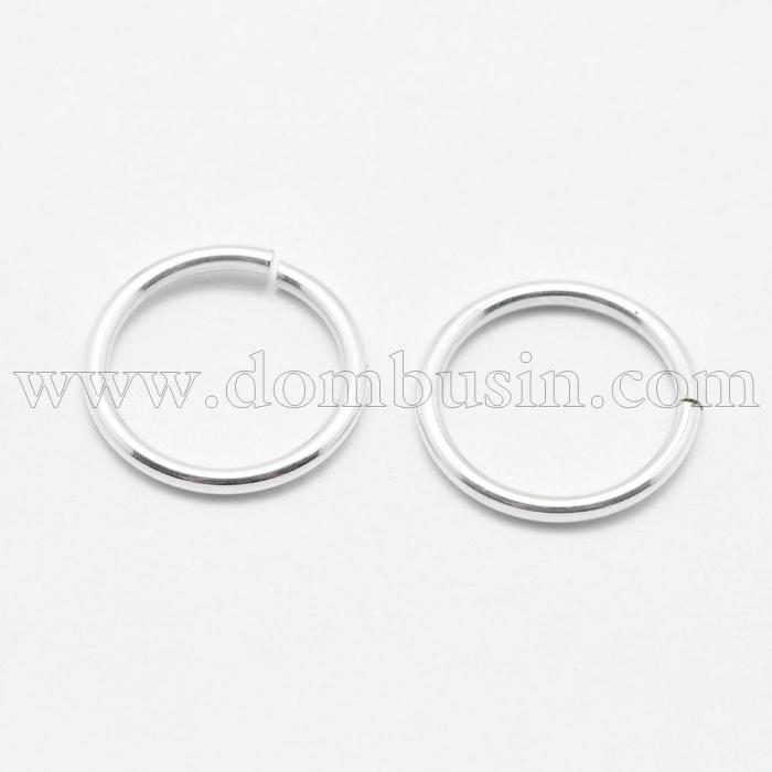 Серебро 925 Колечки Одинарные Открытые, Размер: 10х1мм, Внутренний Диаметр 8мм, (УТ100024009)