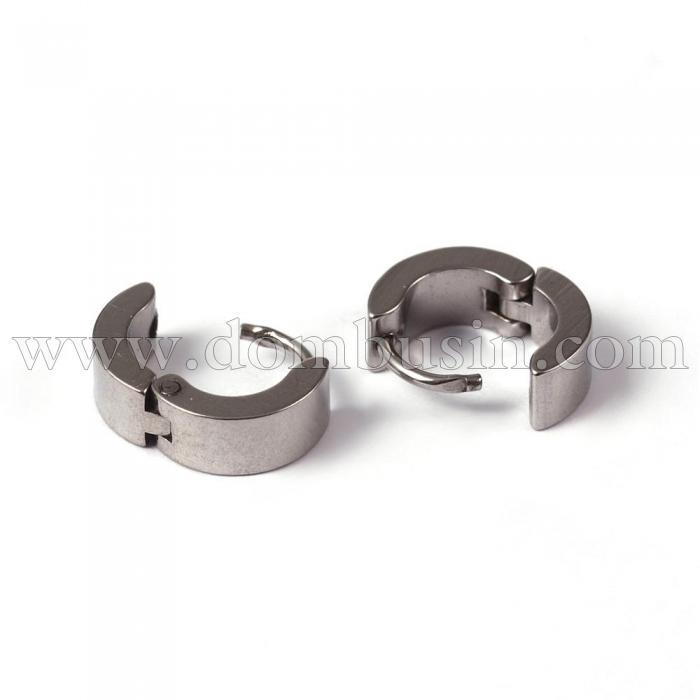 Серьги-кольца, Нержавеющая Сталь 304, Форма Кольцо, Размер: 10x10x4мм, Штифт: 1мм, (УТ100024033)