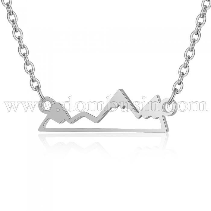 Ожерелье с Кулоном, Нержавеющая Сталь, Гора, Размер: Цепь 43.5см, Кулон: 20.5x6x1мм, (УТ100024040)