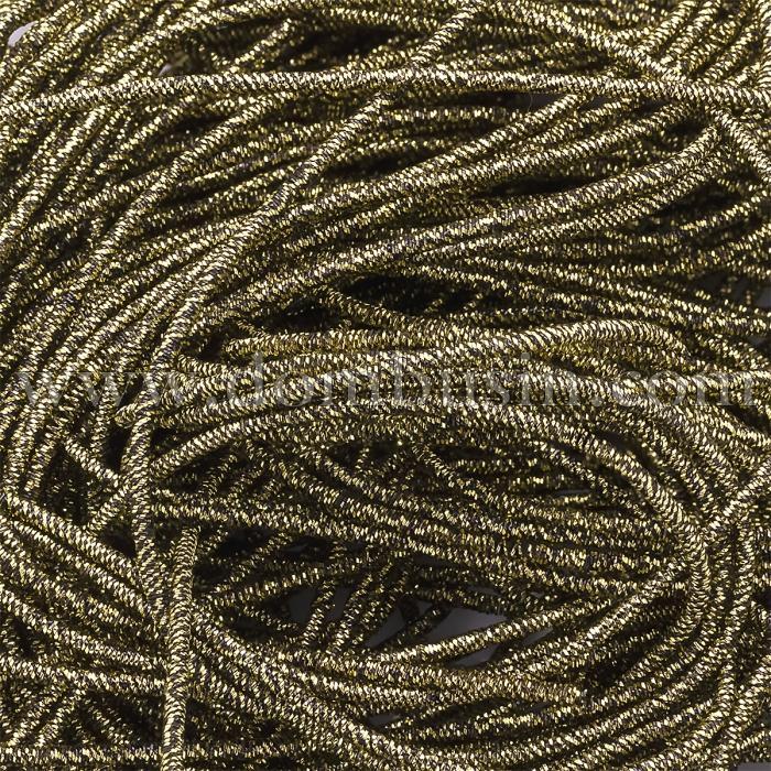 Канитель Трунцал, 4 Грани, Цвет: Золотисто-черный, Отрезки не Менее 15см, Диаметр 1.2мм, около 323см/10г, (УТ100024099)