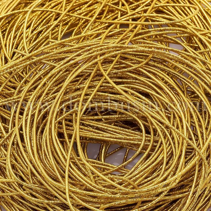Канитель Трунцал, Цвет: Золото, Отрезки не Менее 15см, Диаметр 1мм, около 545смм/10г, (УТ100024104)