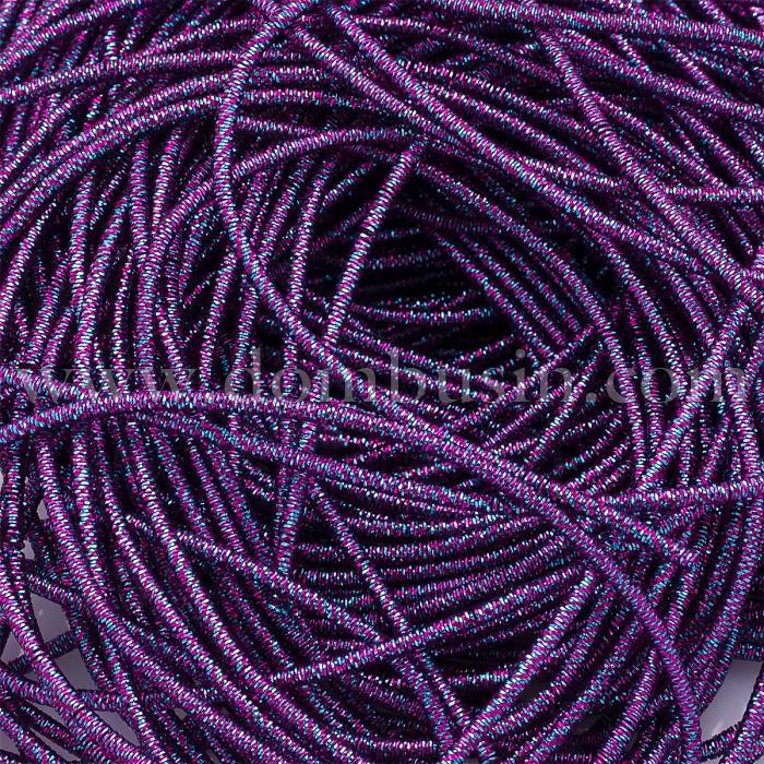 Канитель Трунцал, 4 Грани, Цвет: Пурпурно-голубой, Отрезки не Менее 15см, Диаметр 1.2мм, около 337см/10г, (УТ100024110)