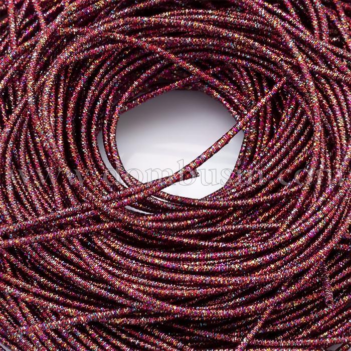 Канитель Трунцал, 4 Грани, Цвет: Красный, Отрезки не Менее 15см, Диаметр 1.2мм, около 354см/10г, (УТ100024112)