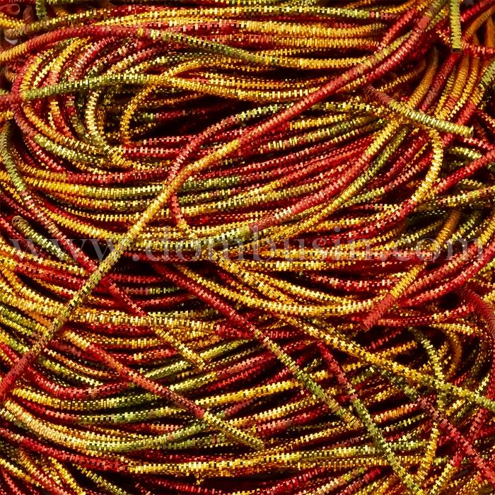 Канитель Трунцал 4 грани, Цвет: Мультицвет, Отрезки не Менее 15см, Диаметр 1.2мм, около 448см/10г, (УТ100024089)