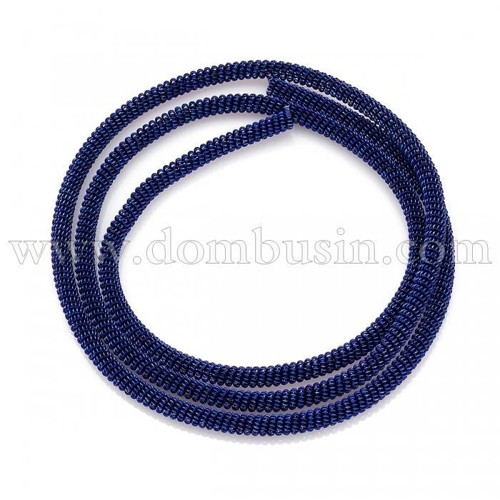 Канитель Фигурная, Диаметр: 3мм, Цвет: Синий, цельный отрезок 55см/12г, (УТ100024125)