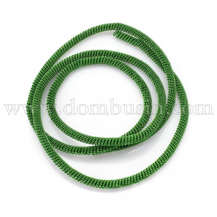 Канитель Фигурная, Диаметр: 3мм, Цвет: Зеленый, цельный отрезок 60см/12г, (УТ100024127)