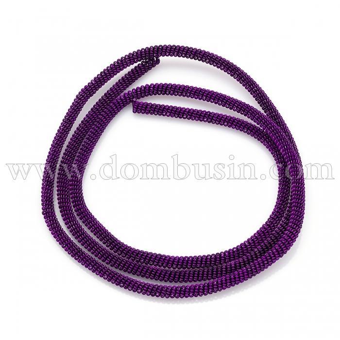 Канитель Фигурная, Диаметр: 3мм, Цвет: Фиолетовый, цельный отрезок 55см/12г, (УТ100024131)