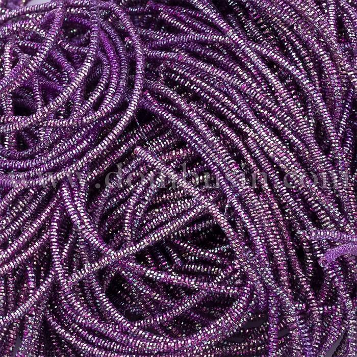 Канитель Трунцал 4 грани, Цвет: Сиреневый металлик, Отрезки не Менее 15см, Диаметр 1.2мм, около 447см/10г, (УТ100024132)