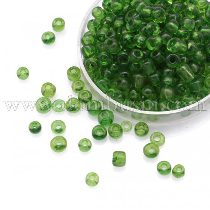 Бисер Китайский 6/0, Прозрачный (TC), Цвет: Светло-зеленый , Круглый, (УТ100024473)