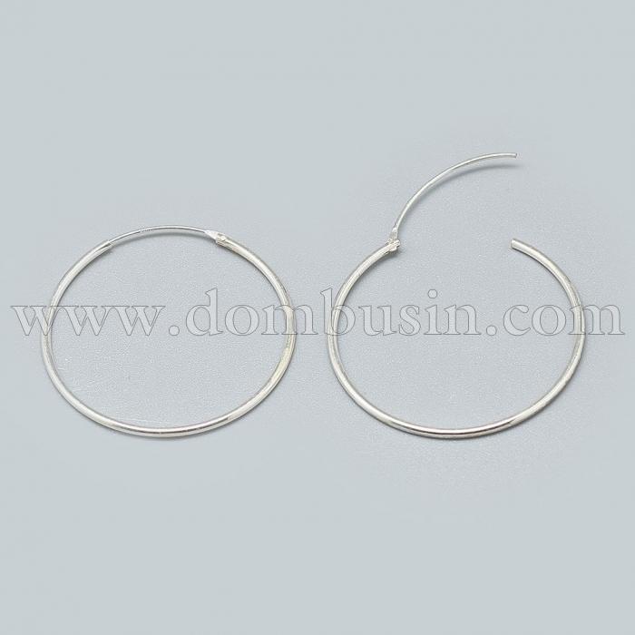 Срібло 925 Швензи-Кільця, Розмір: Діаметр: 42мм, Пін: 0.7мм, (УТ100024504)