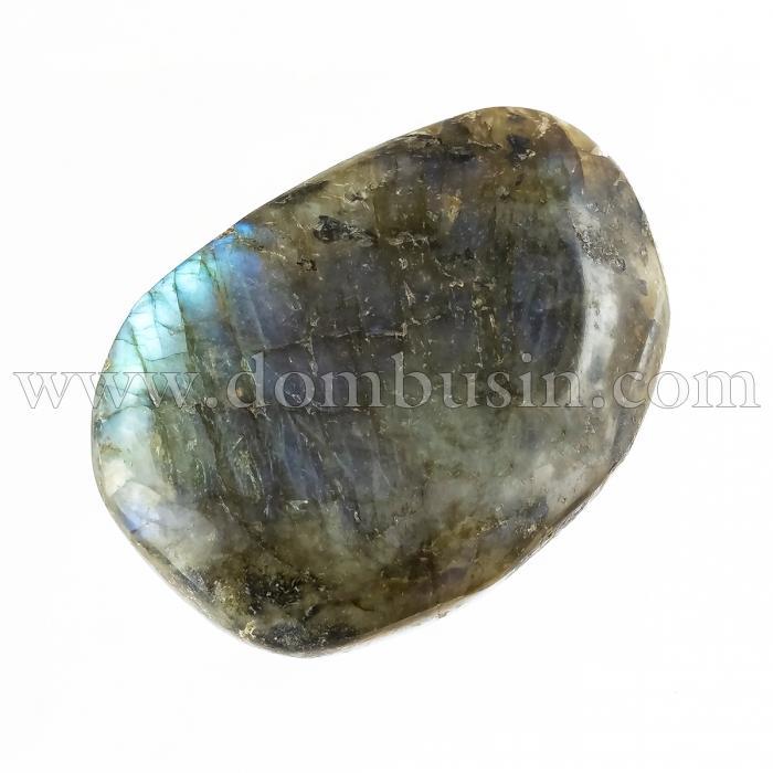 Натуральный Лабрадорит, Самородок, Необработанный, Размер: 54х35х14мм, Вес 1шт около 46г, Без Отверстия, (УТ100024513)