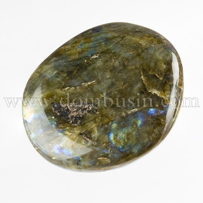 Натуральный Лабрадорит, Самородок, Необработанный, Размер: 52~65х35~61х12~25мм, Вес 1шт около 70~75г, Без Отверстия, (УТ100024515)