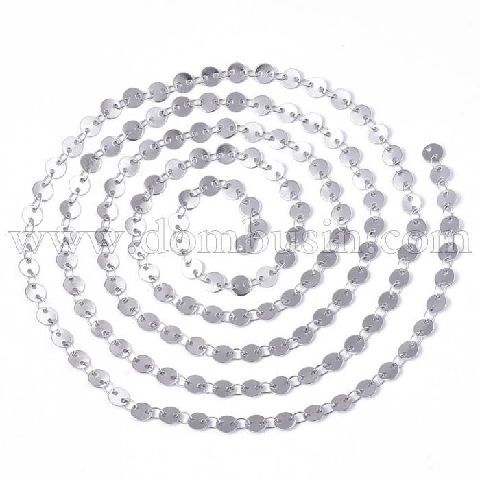Цепь Нержавеющая Сталь, Паяная, Размер звена: 5х0.3мм и 3.6x2.3x0.3мм, (УТ100024577)