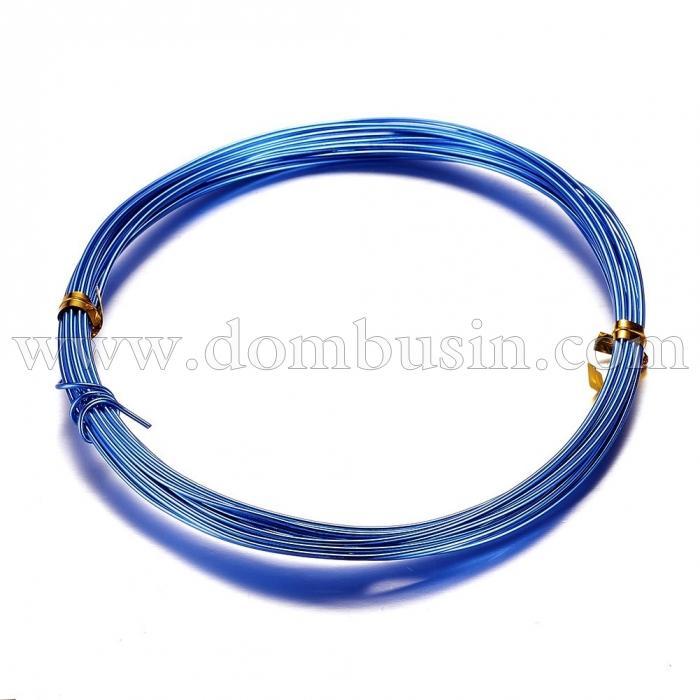 Алюминиевая Проволока 1мм/10м, Цвет: Синий, Толщина 1мм, 10м/катушка, (УТ100024585)