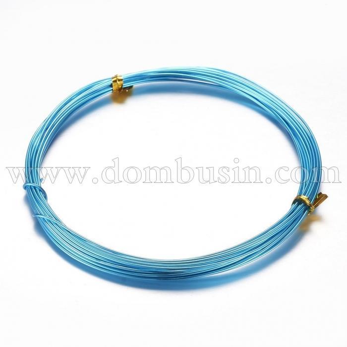 Алюминиевая Проволока 1мм/10м, Цвет: Голубой, Толщина 1мм, 10м/катушка, (УТ100024587)