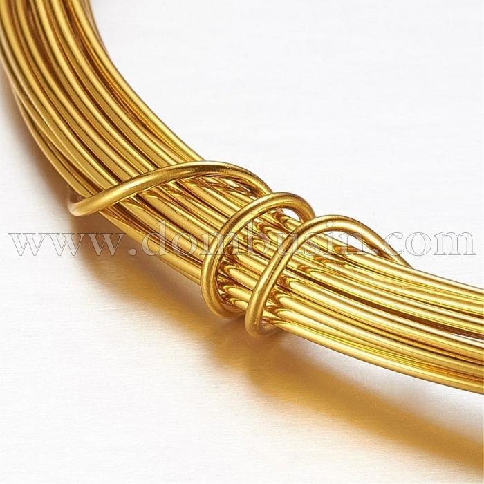Алюминиевая Проволока 1.2мм/10м, Цвет: Золото, Толщина 1.2мм, 10м/катушка, (УТ100024591)