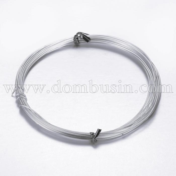 Алюминиевая Проволока 1мм/10м, Цвет: Серый, Толщина 0.8мм, 10м/катушка, (УТ100024604)