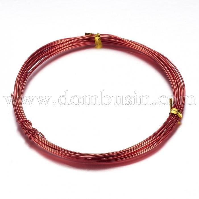 Алюминиевая Проволока 1мм/10м, Цвет: Красный, Толщина 1мм, 10м/катушка, (УТ100024606)