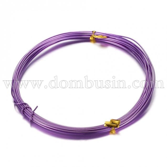 Алюминиевая Проволока 1мм/10м, Цвет: Пурпурный, Толщина 1мм, 10м/катушка, (УТ100024609)