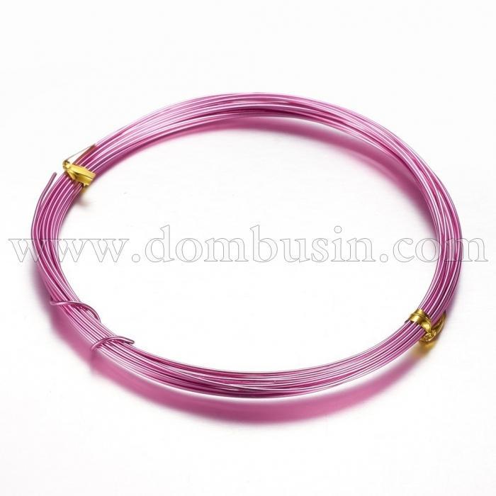 Алюминиевая Проволока 1мм/10м, Цвет: Темно-Розовый, Толщина 1мм, 10м/катушка, (УТ100024611)