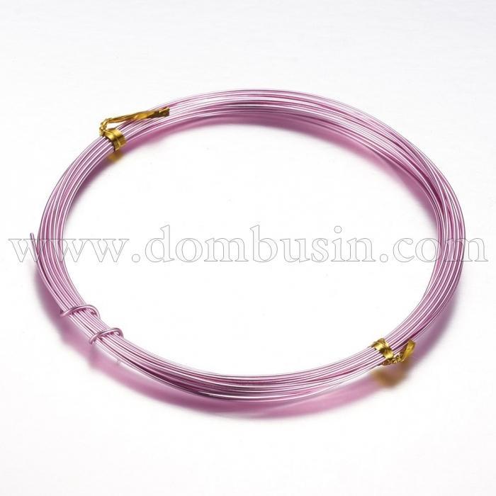 Алюминиевая Проволока 1мм/10м, Цвет: Розовый, Толщина 1мм, 10м/катушка, (УТ100024613)