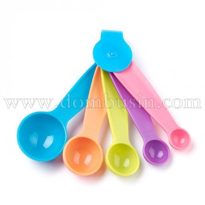 Мерные Ложки, Пластиковые, Цвет Микс, Размер: 11.45~12.6x1.95~4.1 см (УТ100024636)