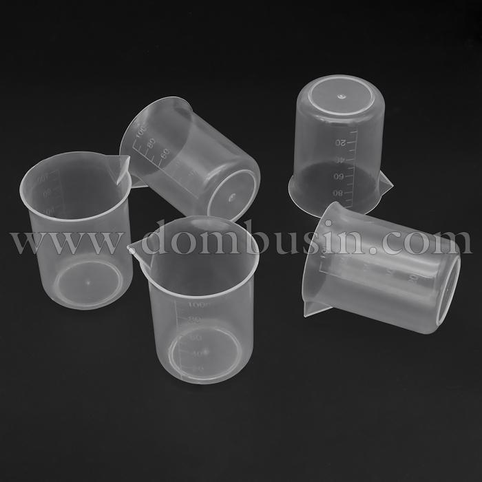Мерный Стакан 100мл, Пластиковый, Прозрачный, Размер: 5.9~6.1x6.7см, (УТ100024637)