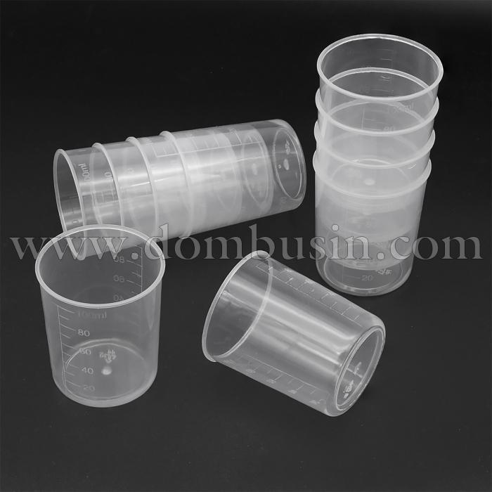 Мерный Стакан 100мл, Полипропиленовый, Цвет Прозрачный, Размер: 5.5x6.4см, (УТ100024653)