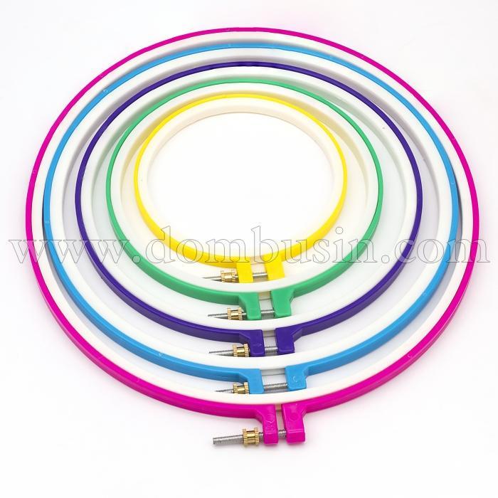 Набор 3D Пяльцы для Вышивки Пластиковые, Цвет: Микс, Размер: 9-10х125-285мм, 5шт/набор(УТ100024672)