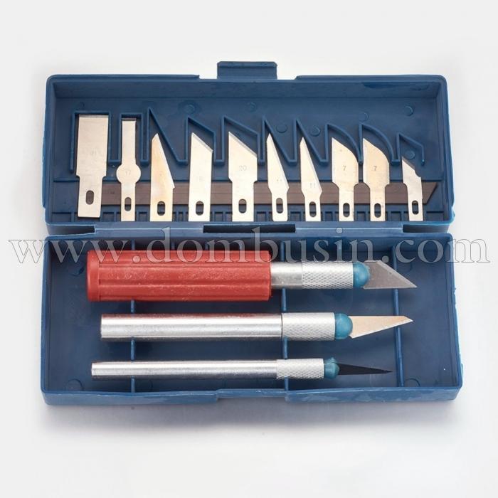 Набор Ножей со Сменными Лезвиями Металл, Размер: 30-44х5.5мм, 91-107х19мм, (УТ100024675)