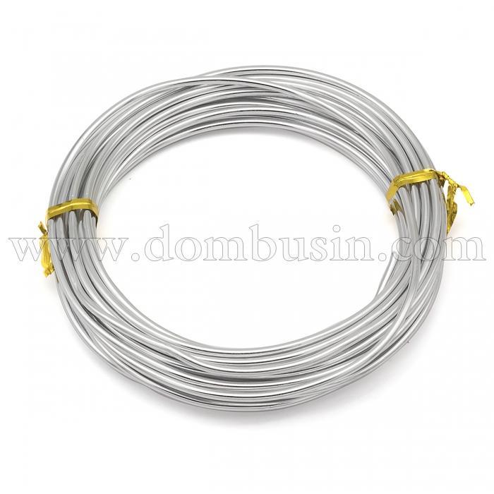 Алюминиевая Проволока 2.5мм/5м, Цвет: Серебро, Толщина 2.5мм, 5м/катушка, (УТ100024581)