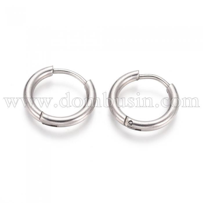 Серьги-кольца, Нержавеющая Сталь, Гипоаллергенные, Размер: 14x2мм, Штифт: 1мм, (УТ100024735)
