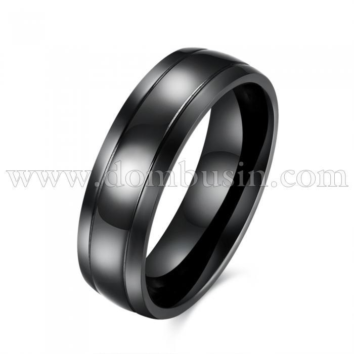Кольцо, Титановая Сталь 316, Цвет: Черный, Размер 18.1мм, (УТ100024743)