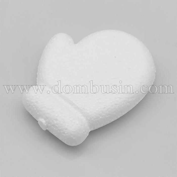 Варежка 3D пенопластовая, Размер: 95мм, Цвет: Белый (УТ100024748)