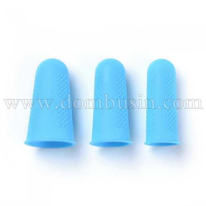 Силиконовые Накладки на Пальцы, Термостойкие, Противоскользящие, Цвет: Синий, Размер: 45х25мм, 3шт/комплект, (УТ100024750)