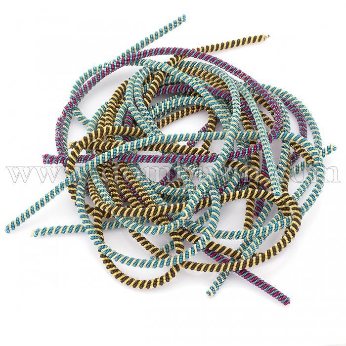 Канитель Фигурная Двойная, Диаметр: 3мм, Цвет: Микс, отрезки не менее 10см, около 420см/100г, (УТ100024867)