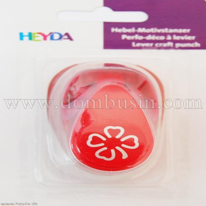 """Дырокол фигурный Heyda, 3D """"Цветок"""", Размер вырубки: 1.6см, (УТ100013710)"""